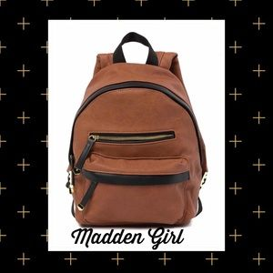 MADDEN GIRL▪️Cognac Brown Black Backpack Mini